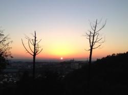 弘法山麓からの日の出