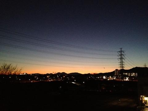 夕焼けの見える教室から