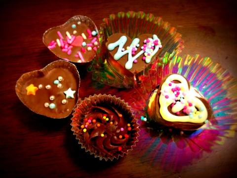 可愛い手作りチョコたち