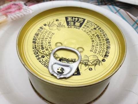 震災に耐えた缶詰