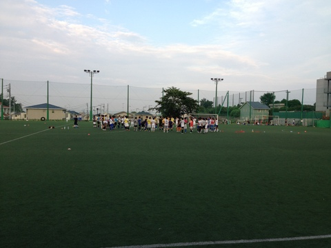 東海大学サッカー部の練習風景
