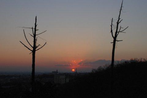 弘法山麓からの初日の出