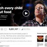 ジェイミー・オリバー 「子ども達に食の教育を」