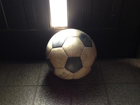 玄関にはいつもサッカーボール