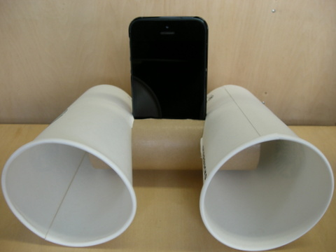 iPhone用紙コップスピーカー