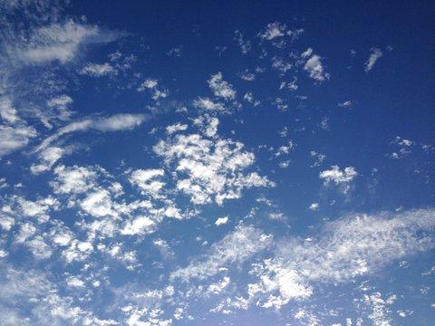 秋の空を見上げて「ありがとう!」と言ってみる