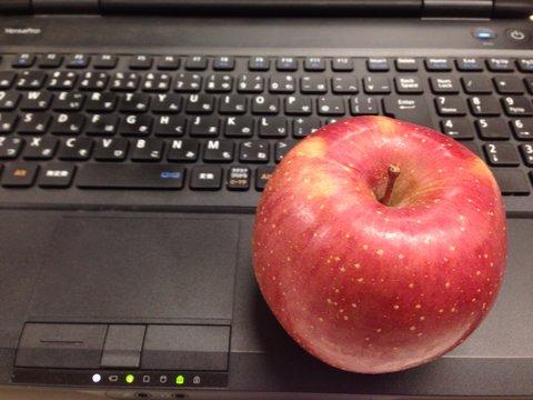 おいしいリンゴをいただきました。
