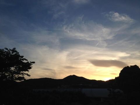 弘法山の夕暮れ