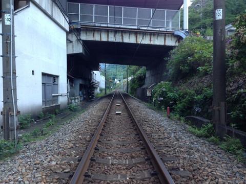 上越線水上駅周辺下り線