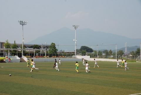 筑波山の見えるスタジアム