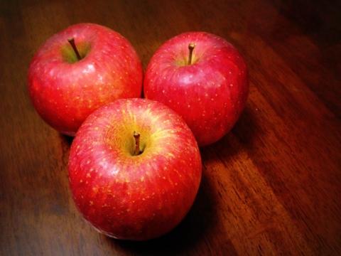 美味しいリンゴをいただきました