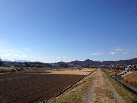 弘法山の麓