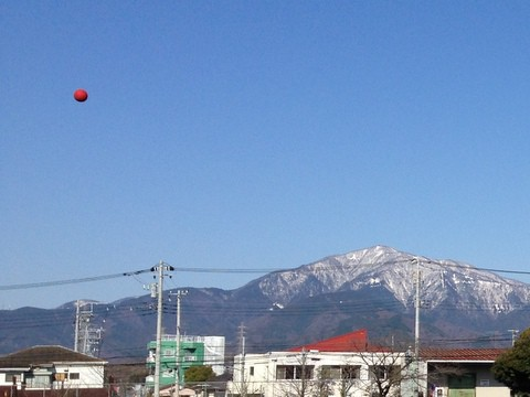 大山とドッジボール
