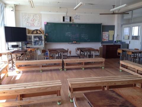 誰もいない教室で