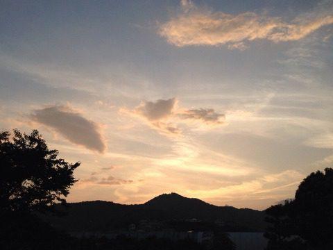 弘法山の夕景