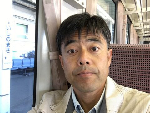 石巻駅にて