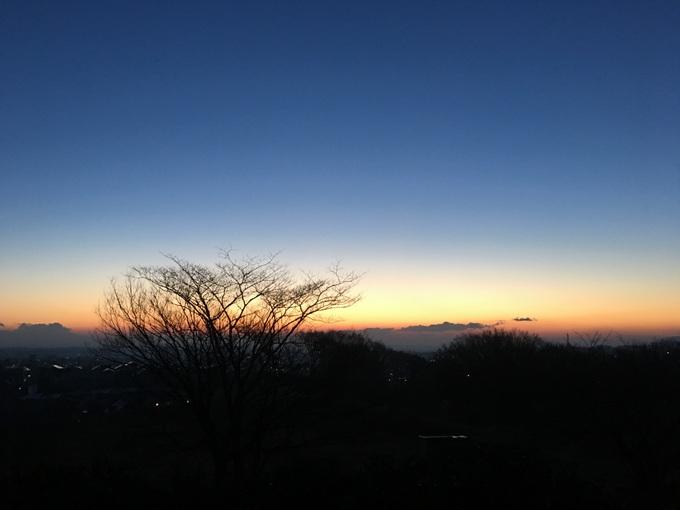 冬場の早朝ランの楽しみ