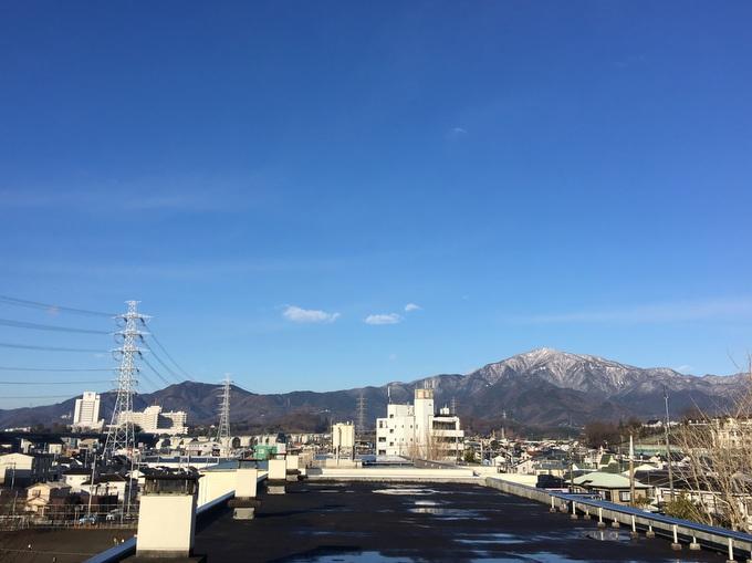 雪の大山を望む