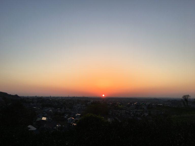 日の出が早くなった