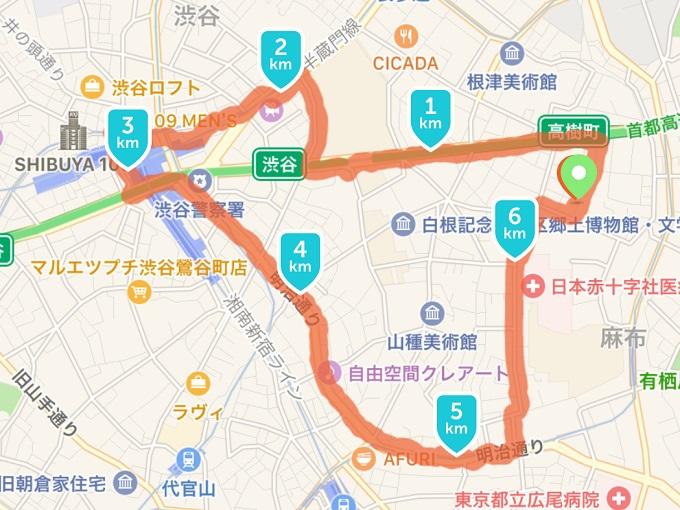渋谷の街を走る