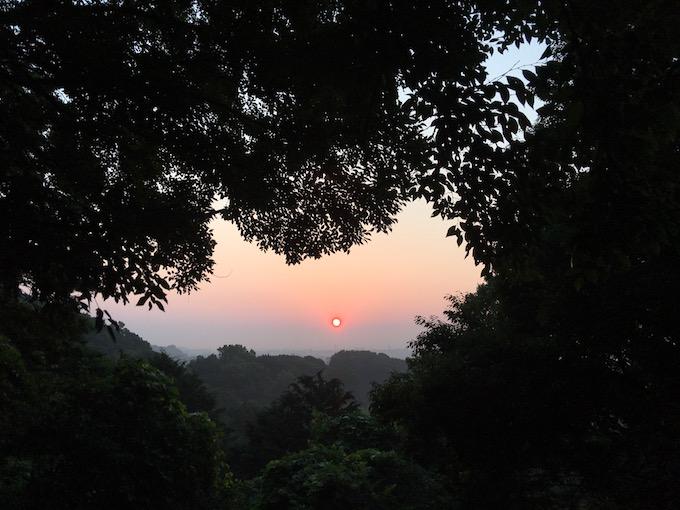 朝ランと日の出