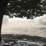 短時間に降った豪雨に驚いた!