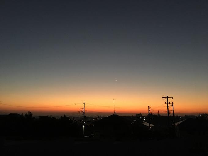 朝日が昇る前に走ろう!
