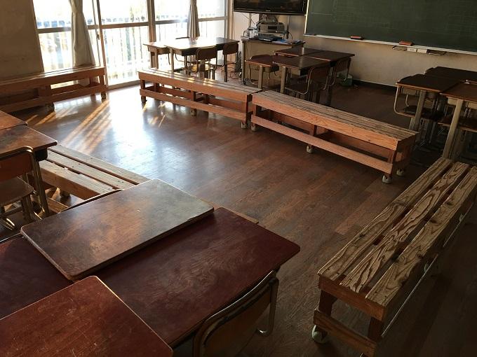 ベンチのある教室を改めて考える。