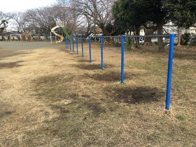 校庭芝生化チャレンジの痕跡