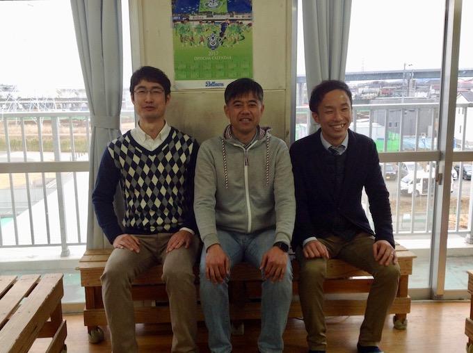 雪の日に横浜から先生たちがやって来た。