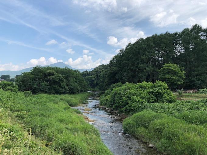 抜井川と茂来山