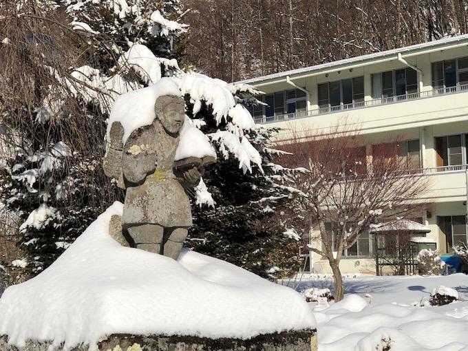 今季最高の積雪だった大日向