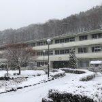 雪の中で迎えた「入学を祝う会」