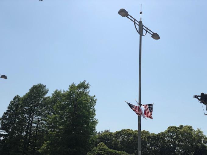 星条旗と日の丸