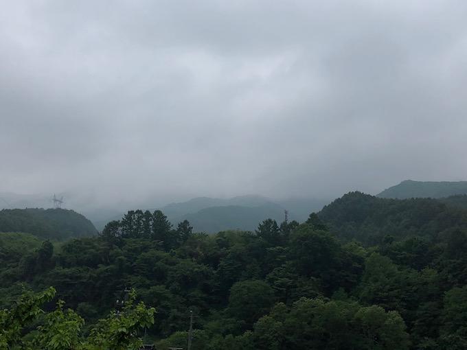 梅雨に入った大日向