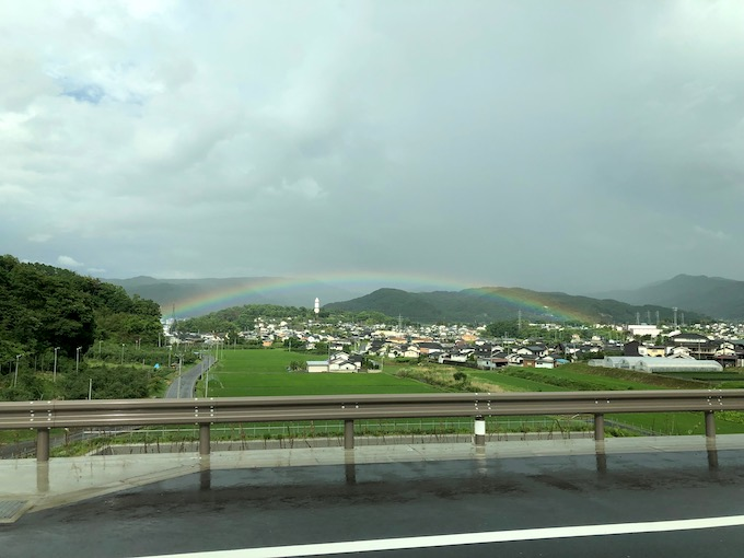 「あ!虹が見えるよ!」6月も最終日