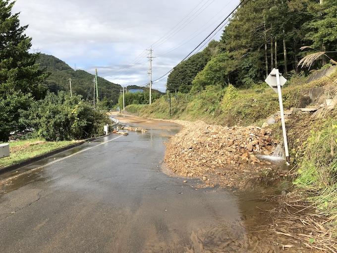 台風19号・佐久穂町大日向