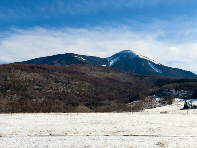 雨境峠から眺める蓼科山