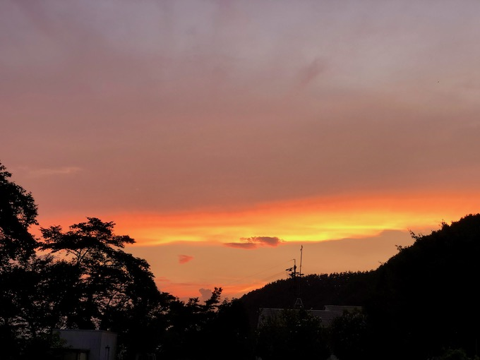 美しい夏の夕焼け