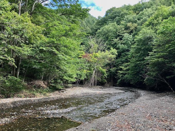 抜井川の上流にて