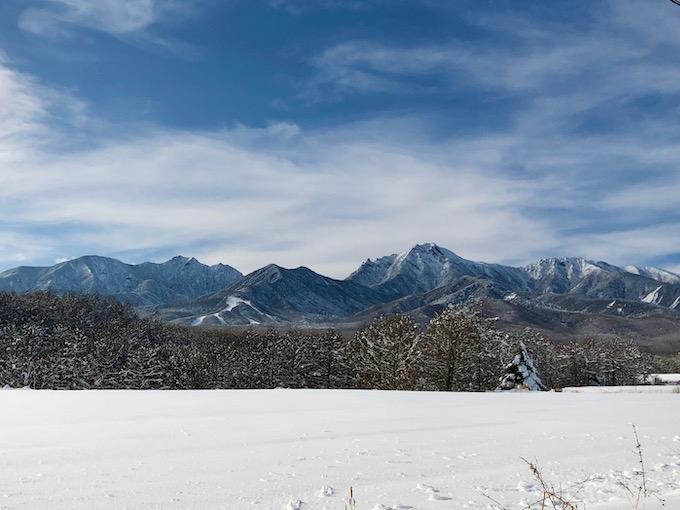 八ヶ岳の風景も一期一会