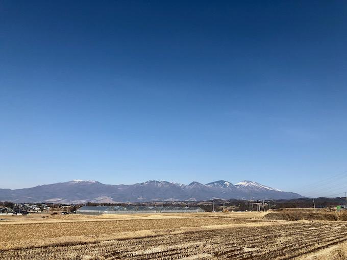 立科町から見る浅間山