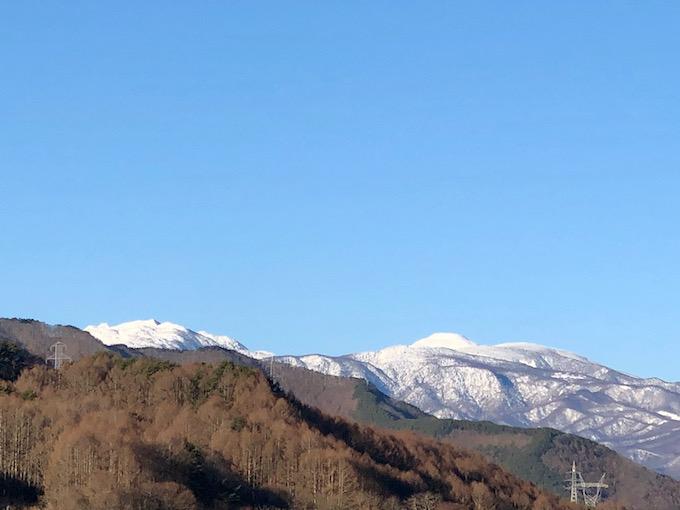 蓼科山は雪景色