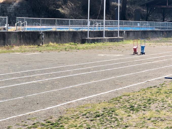 子どもたちと50m走にチャレンジ