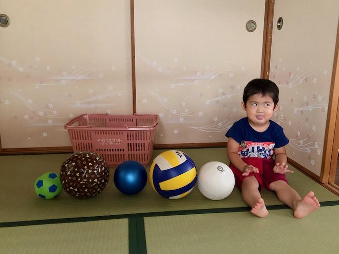 ボール遊びで育つ